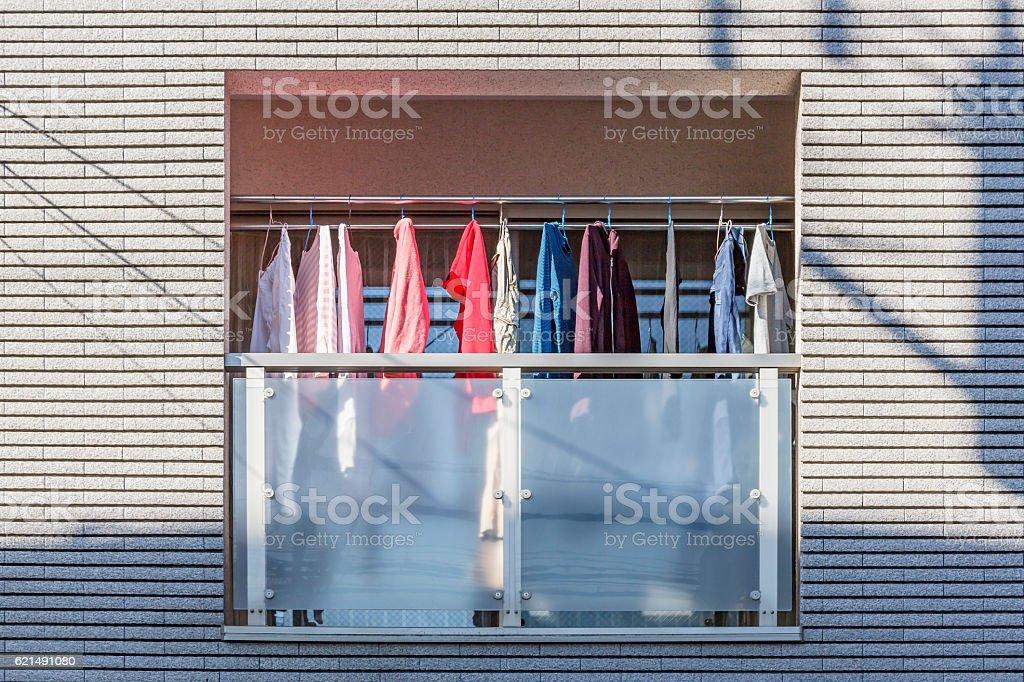 Veranda's laundry Lizenzfreies stock-foto
