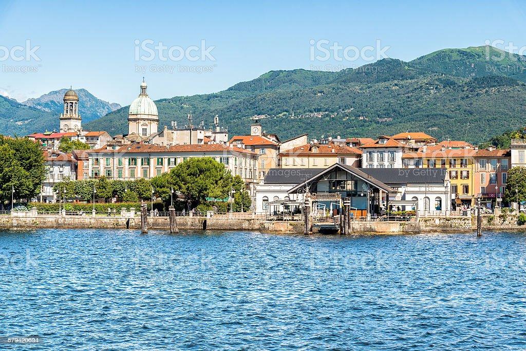 Verbania Intra on lake Maggiore stock photo