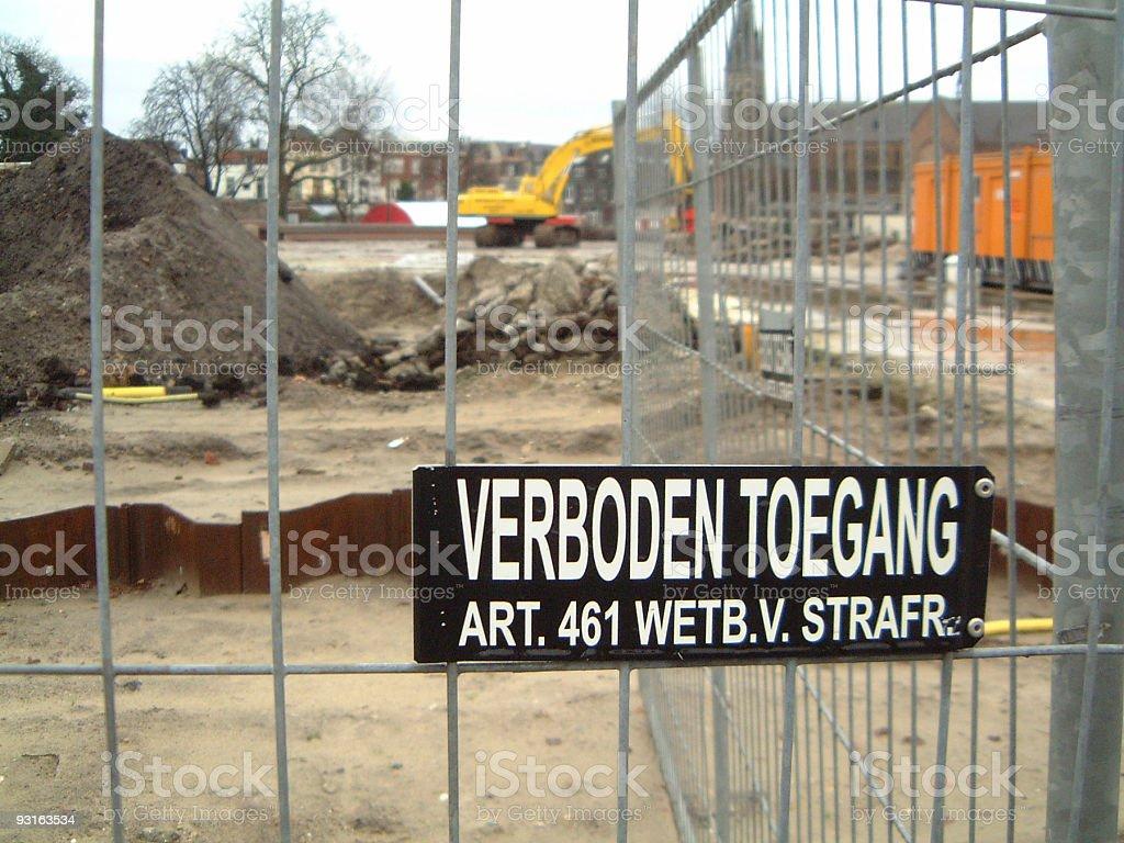 Verboden Toegang (no trespassing) royalty-free stock photo