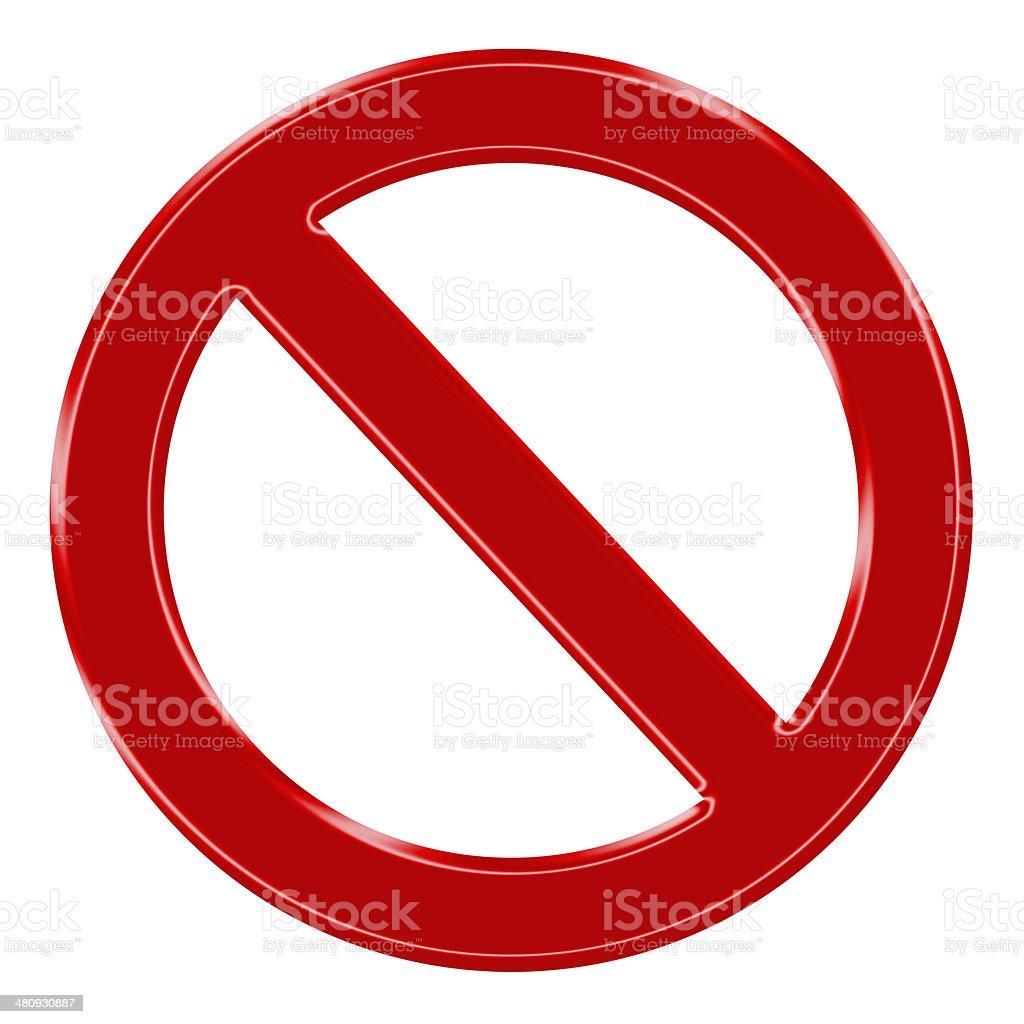 Verbotszeichen stock photo