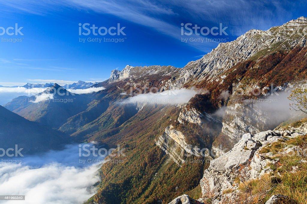 Vercors landscape stock photo