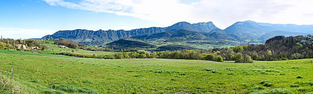 Vercors mountains in the south of France stock photo