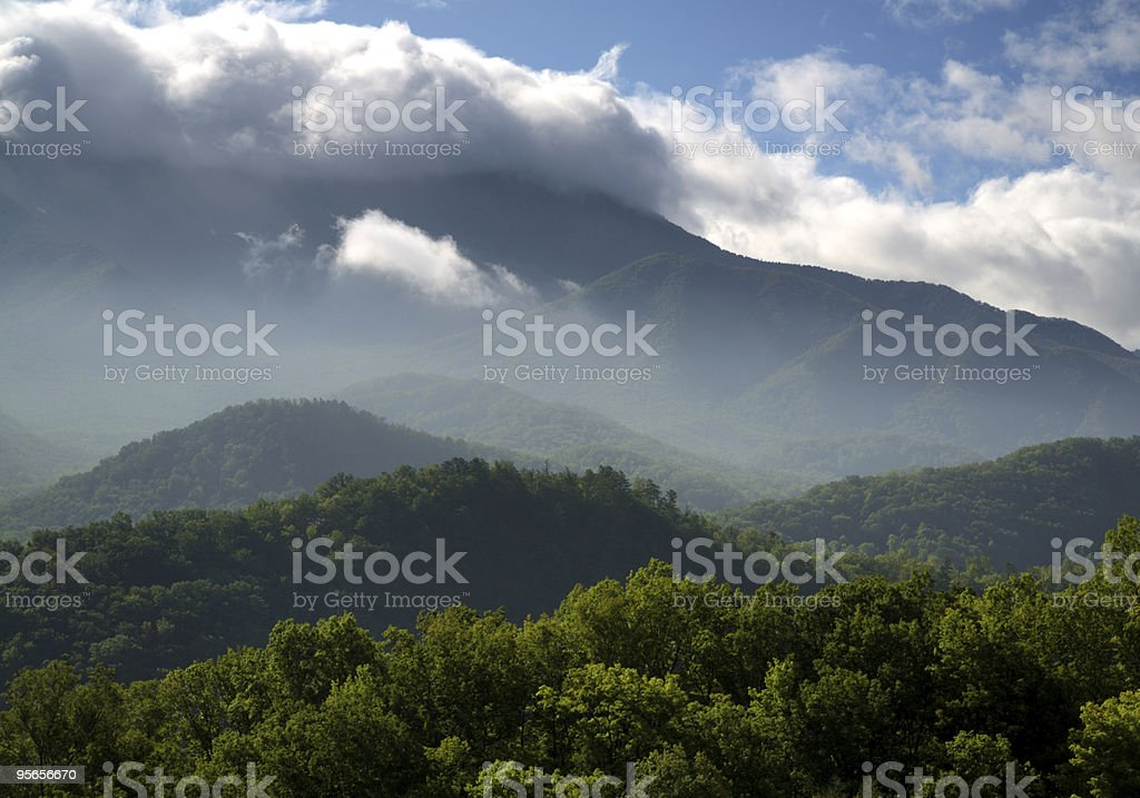 Verdant Peaks royalty-free stock photo
