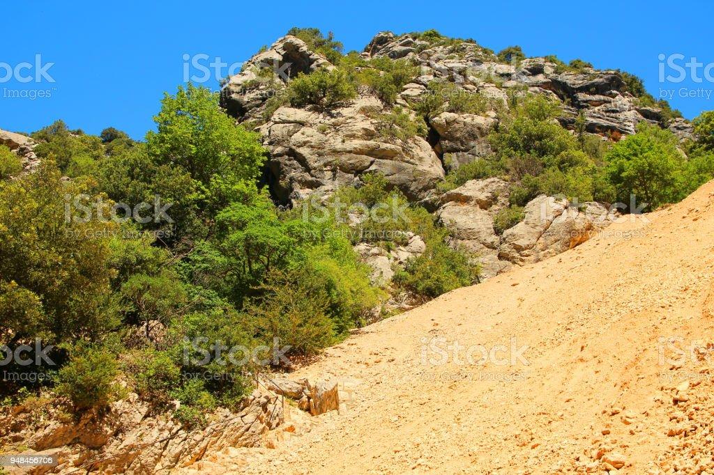 Verdon Canyon, France stock photo