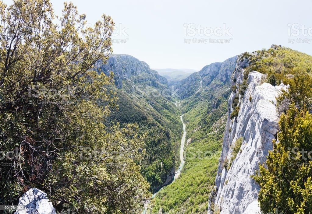 Verdon gorge in Provence in spring stock photo