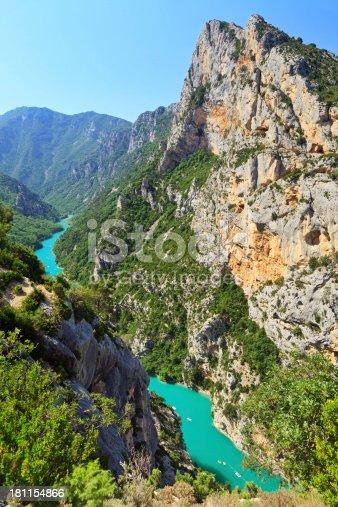 Verdon Gorge (Grand canyon du Verdon) and Verdon River, Alpes-de-Haute-Provence, France