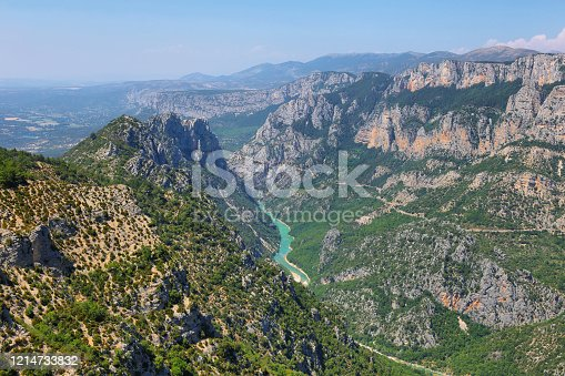 Amazing viewpoint of Verdon Gorge, Provence, France