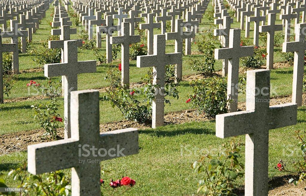 WWI Verdun military cemetery France royalty-free stock photo