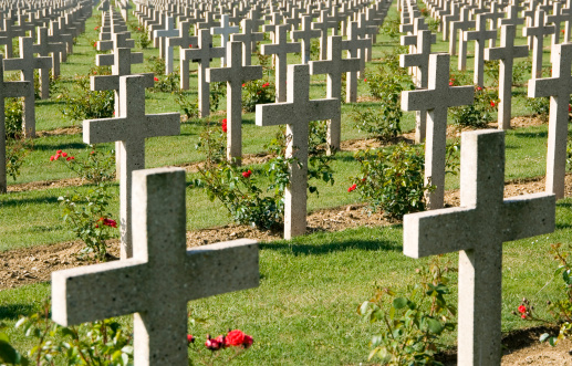 WWI Verdun military cemetery France