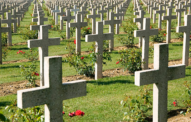 WWI Verdun military cemetery France  verdun stock pictures, royalty-free photos & images