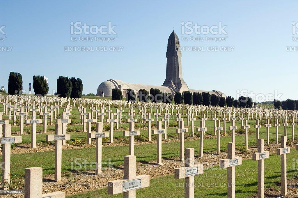 WWI Verdun military cemetery Francja – zdjęcie