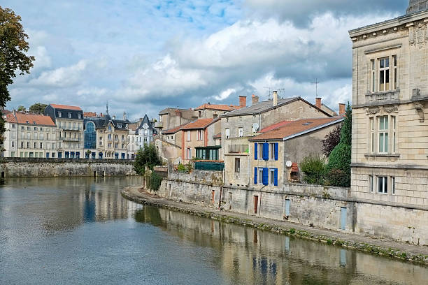 Verdun City of Verdun on the Meuse river. North-eastern France. verdun stock pictures, royalty-free photos & images