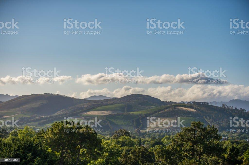 Vergelegen Hills rural scene Somerset West stock photo