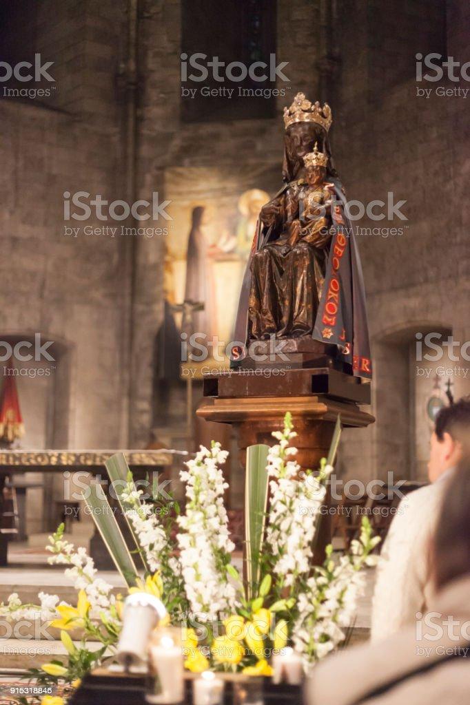 Vergine Nera - Madonna Nera - Abbazia di St. Victor Marsiglia Francia stock photo