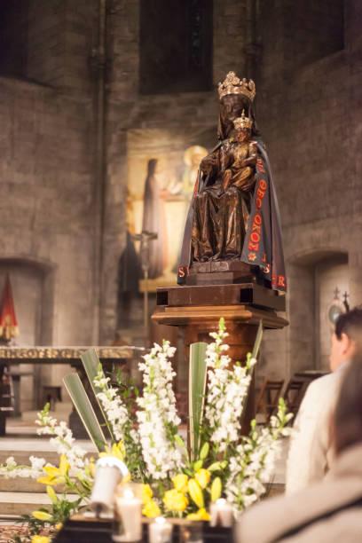 Vergine Nera - Madonna Nera - Abbazia di St. Victor Marsiglia Francia - foto stock