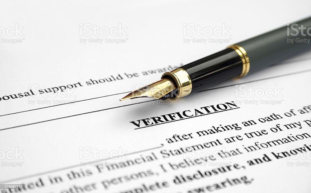 Verification letter royalty-free stock photo