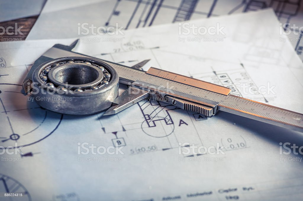 Verification the mechanical parts of the diagram stock photo