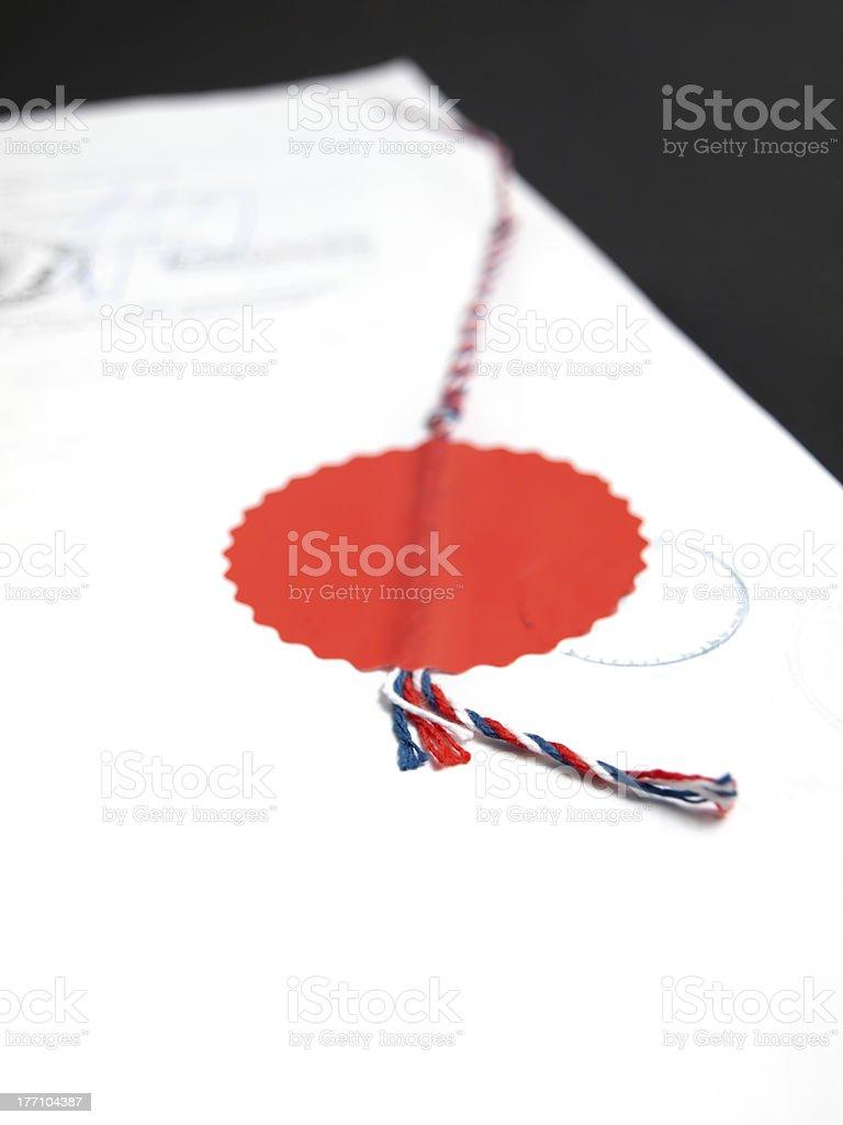 Verified document royalty-free stock photo