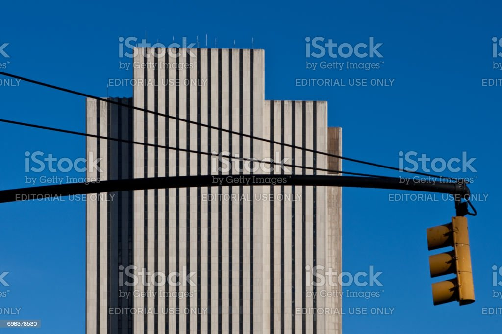 Verizon Building Manhattan New York stock photo