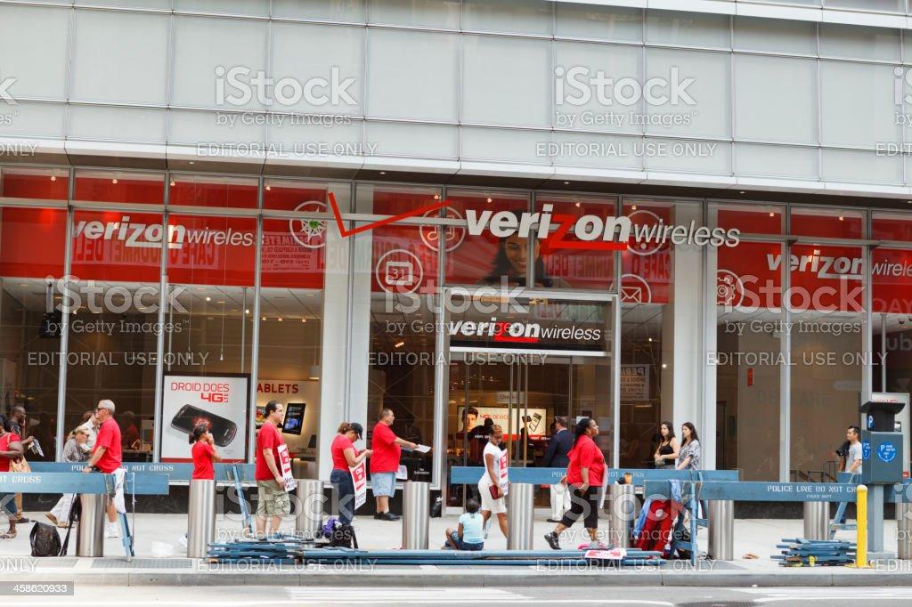 CWA Verizon Strikers New York City stock photo