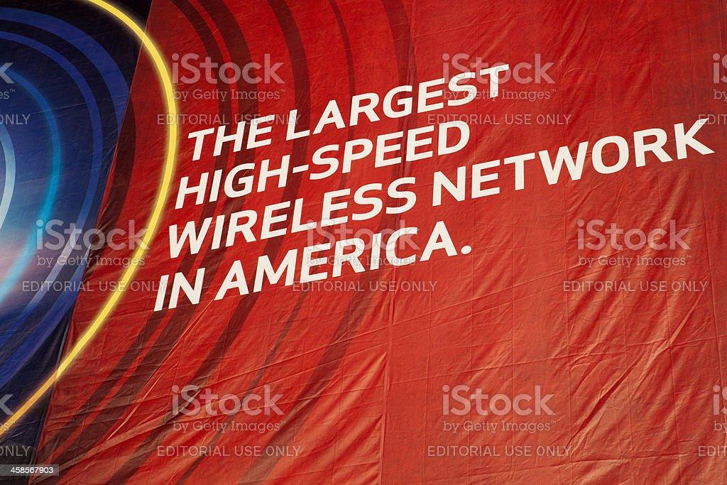 Verizon Wireless Banner stock photo