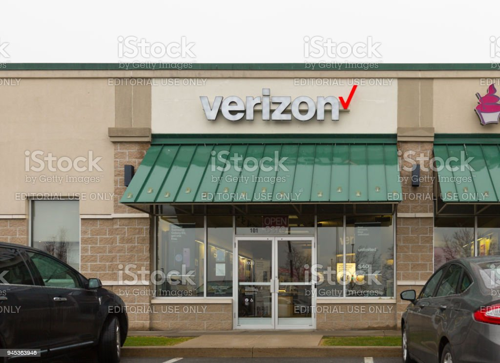 Verizon Wireless Retail Location. Verizon is One of the Largest Technology Companies XI stock photo