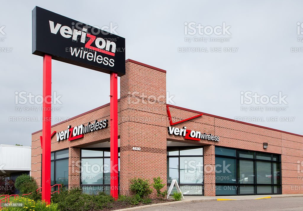 Verizon Wireless Retail Store stock photo