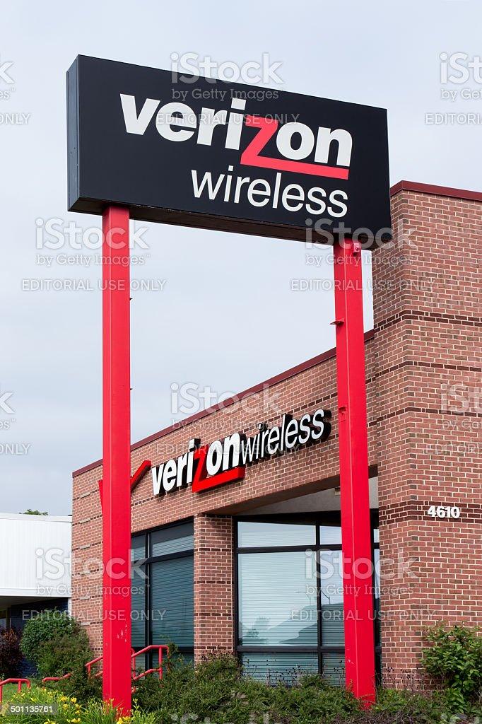 Verizon Wireless Retail Store stock photo