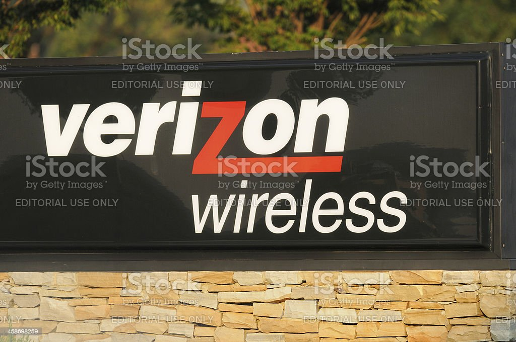 Verizon wireless sign stock photo