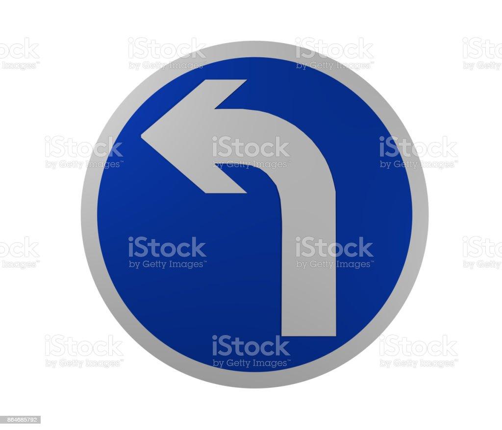 Verkehrszeichen: Vorgeschriebene Fahrtrichtung, Links. – Foto