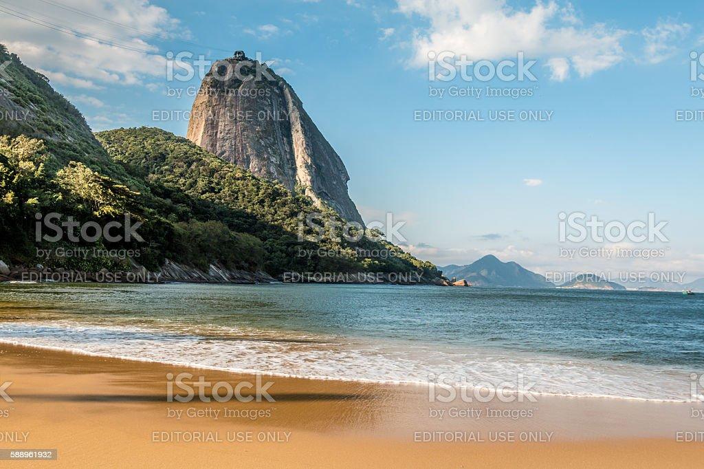 Vermela Beach in Rio de Janeiro stock photo
