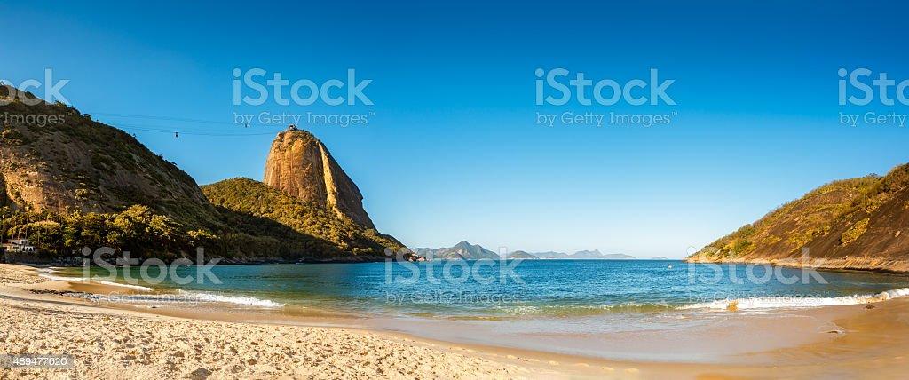 Vermelha Beach and Sugar Loaf panorama stock photo