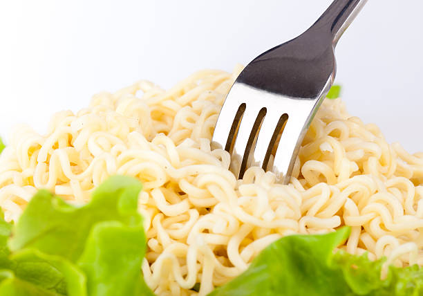 Vermicelli and lettuce stock photo
