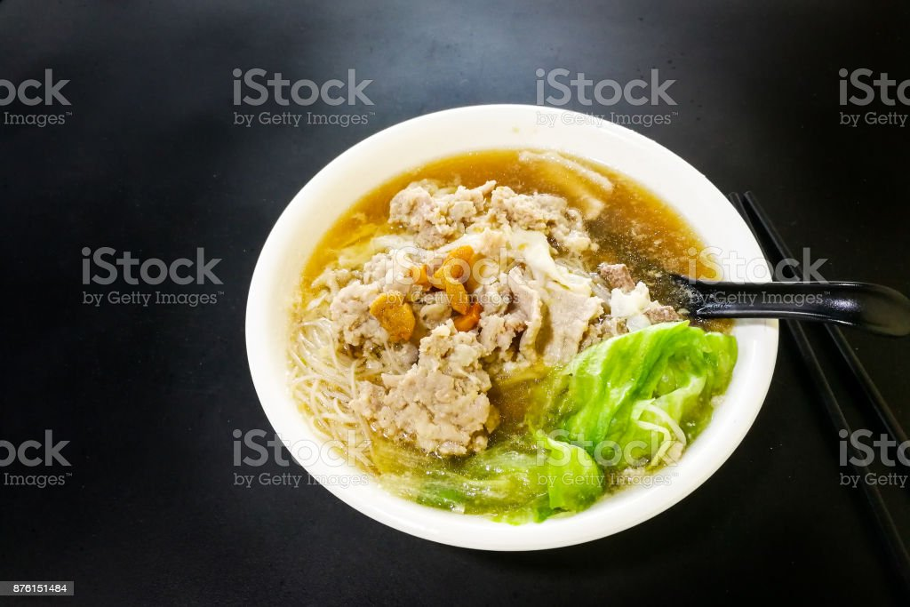 Vermicelli Pork Noodle Soup Popular Food In Penang Malaysia