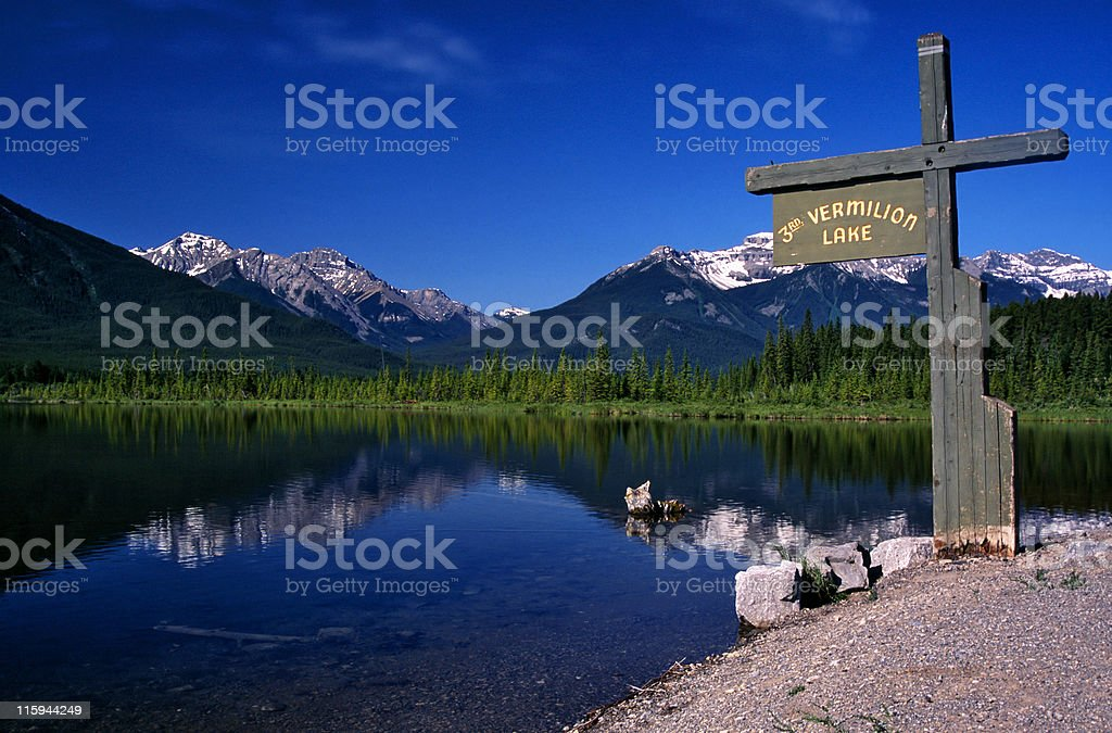 Vermillion Lakes stock photo