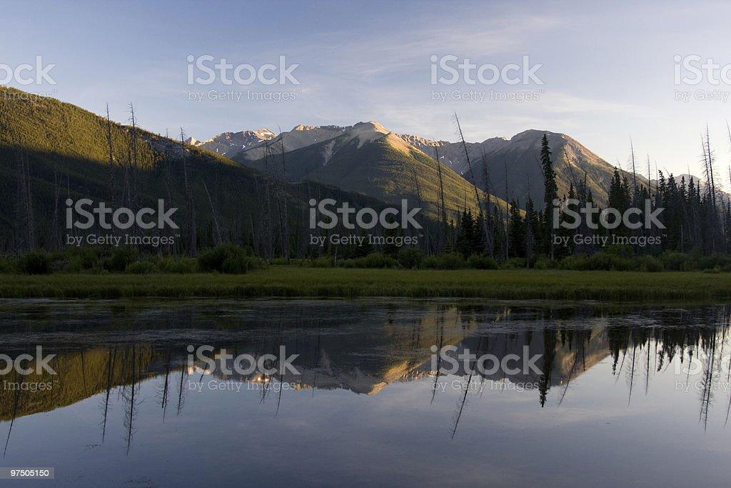 Vermillion Lakes royalty-free stock photo