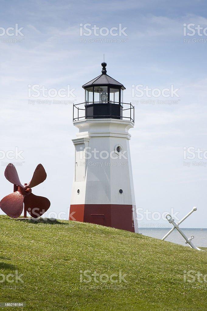Vermillion Lighthouse royalty-free stock photo