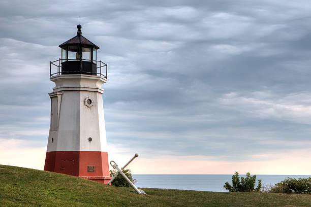 Vermillion Point Lighthouse stock photo