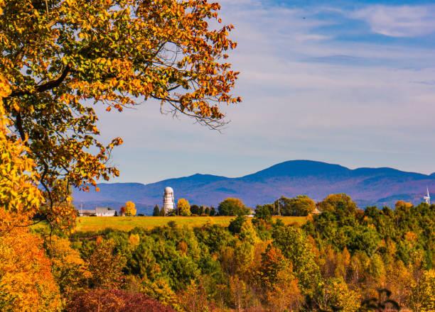 Vermont Autumn Scene stock photo