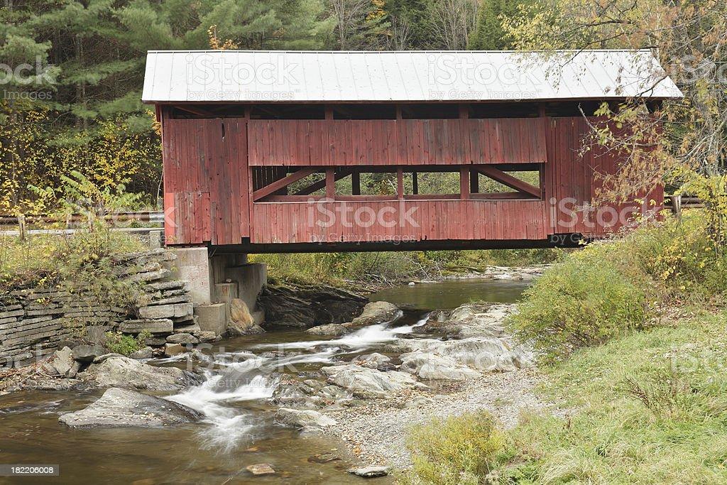 Vermont Covered Bridge royalty-free stock photo