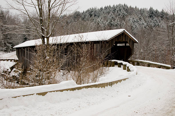 Vermont Covered Bridge stock photo