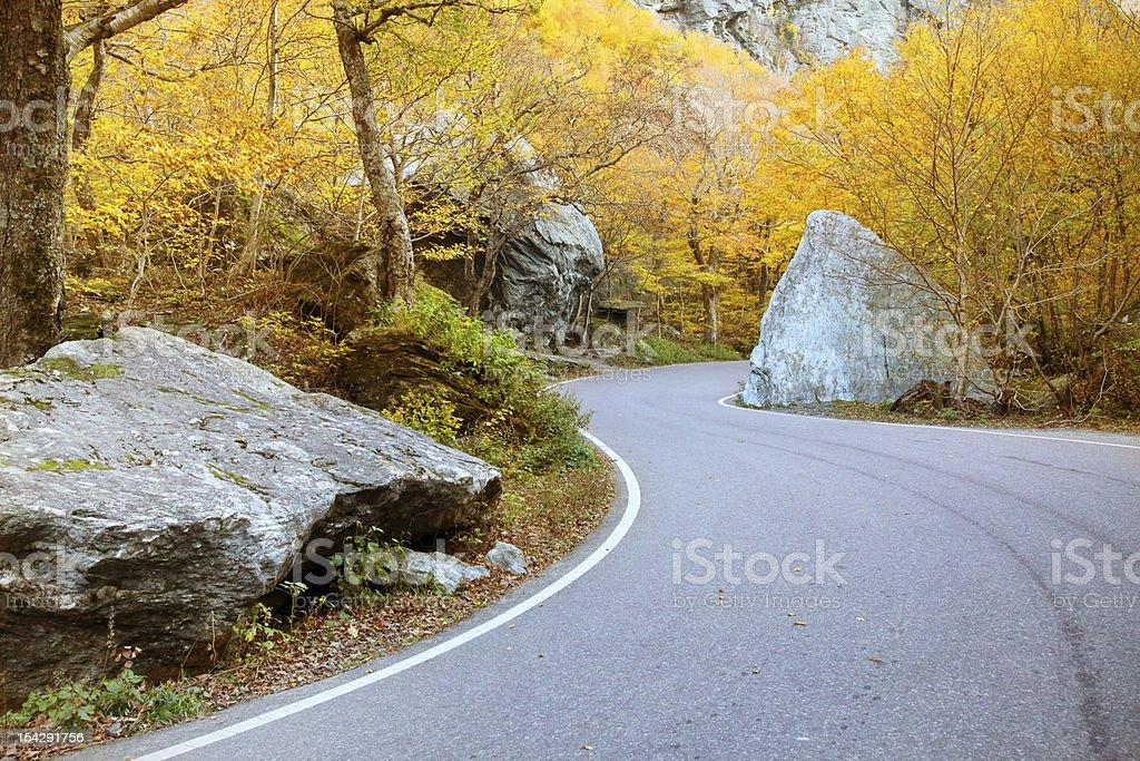 Vermont fall foliage, New England, US royalty-free stock photo