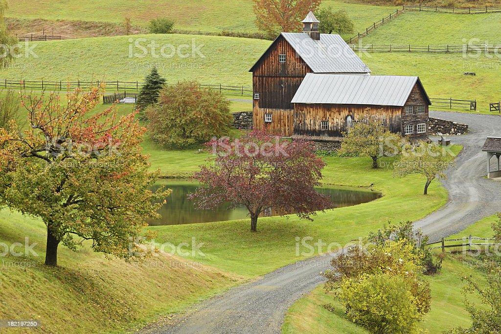 Vermont Farmhouse royalty-free stock photo