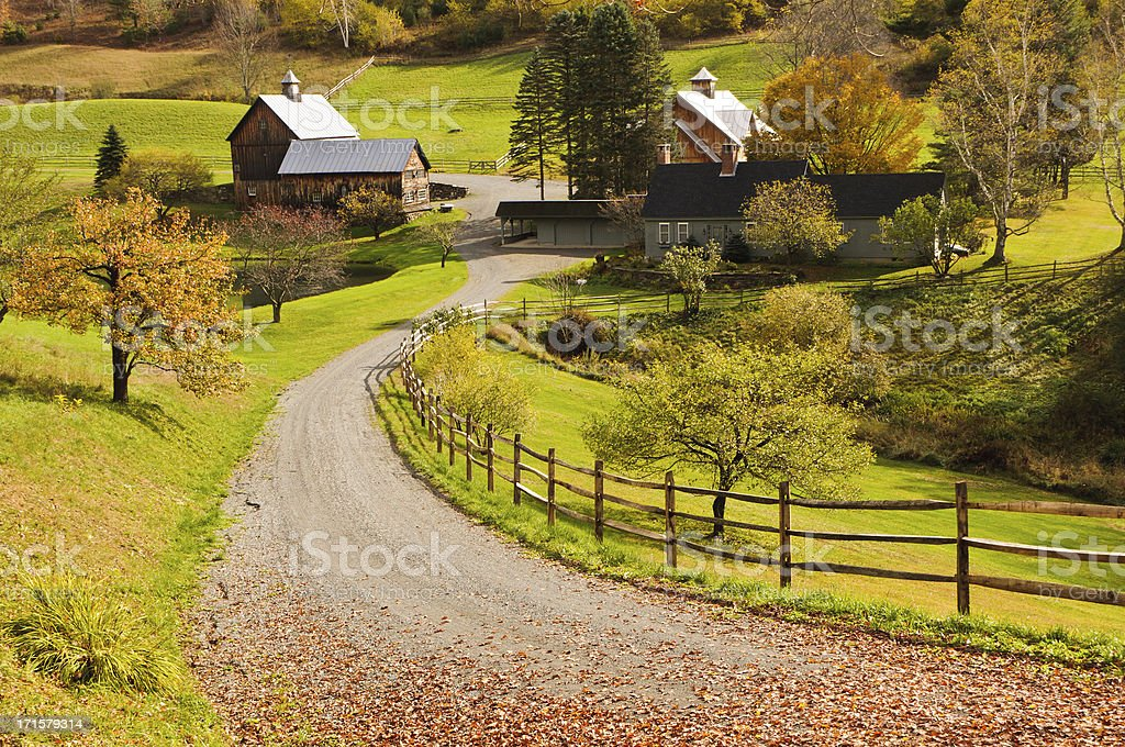 Vermont Homestead stock photo