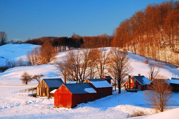 Vermont in Winter stock photo