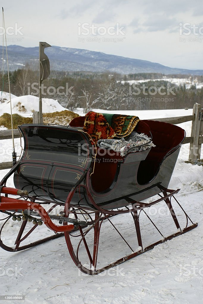 Vermont Sleigh 2 royalty-free stock photo