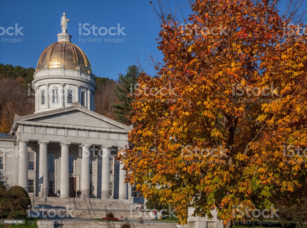 Vermont State Capitol Building stock photo