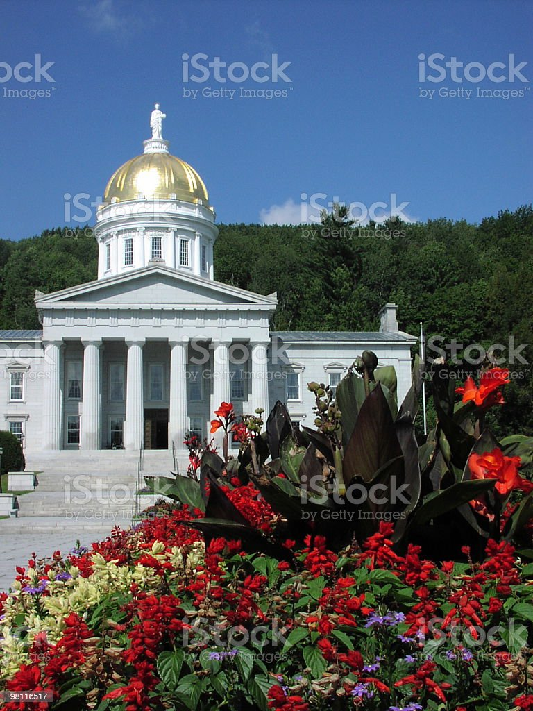vermont state capitol building royalty-free stock photo