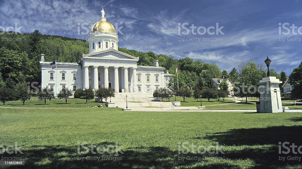 Vermont State Capitol stock photo