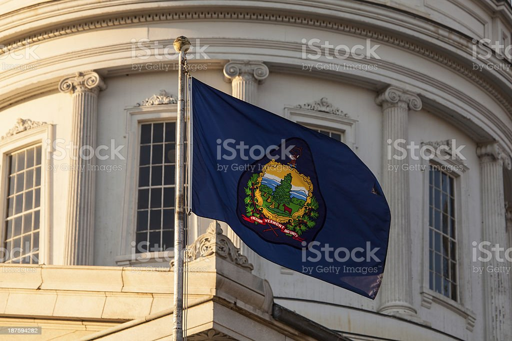 Vermont state flag stock photo